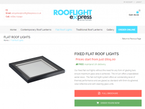 Order Flat Roof Lights Online Securely from Rooflight Express